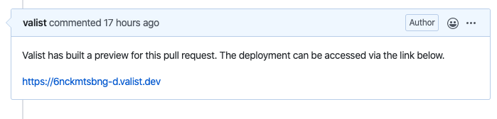github comment